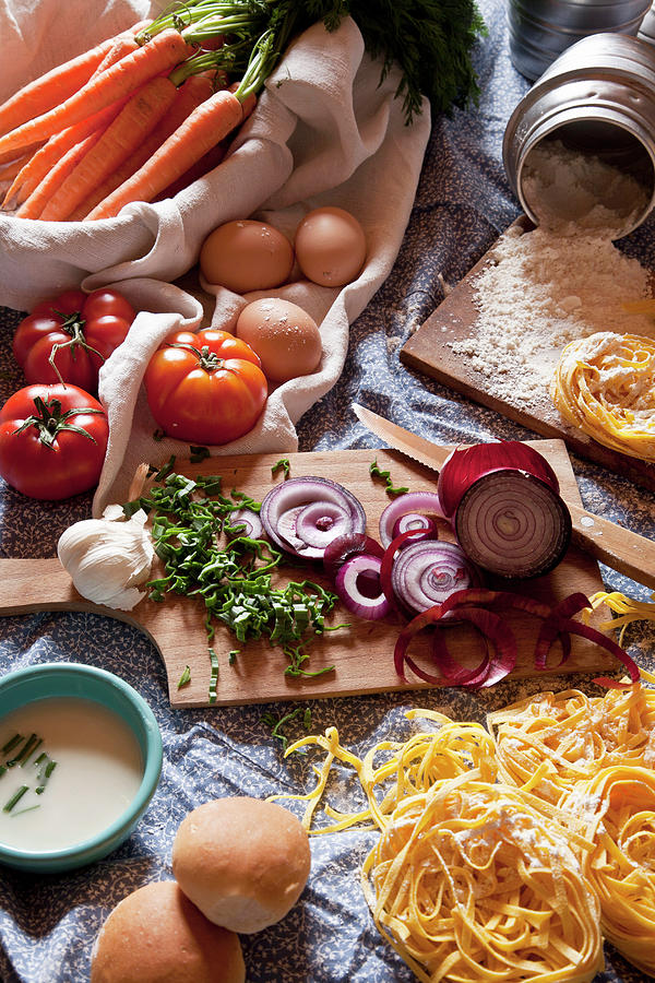 Ingredients For Italian Pasta And Photograph by Buena Vista Images