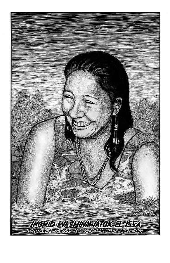 Portrait Mixed Media - Ingrid Washinawatok El-issa by Ricardo Levins Morales