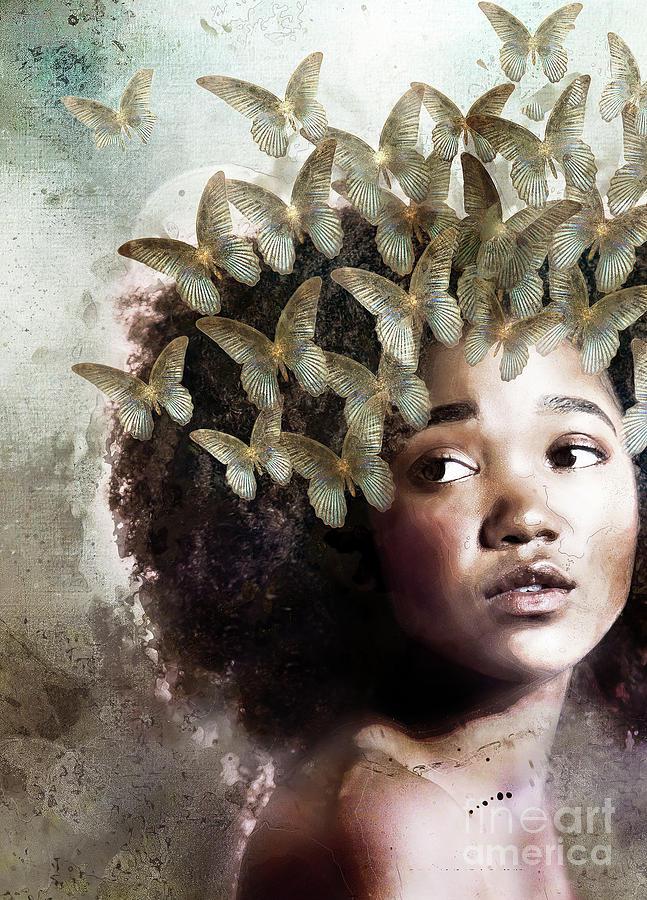 Enchanting Mixed Media - Innocence by Jacky Gerritsen