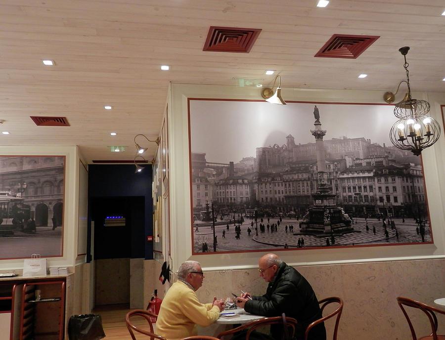 Inside a Cafe in Lisbon by Pema Hou