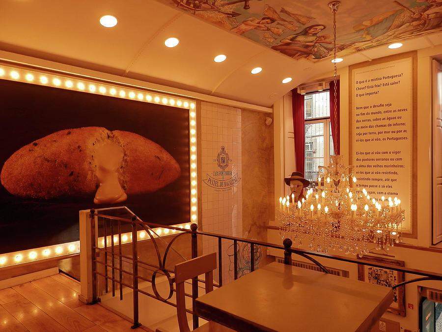 Inside Bacalhau Cafe, Lisbon by Pema Hou
