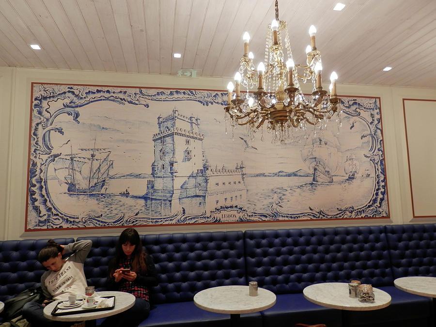 Inside Cafe in Lisbon by Pema Hou