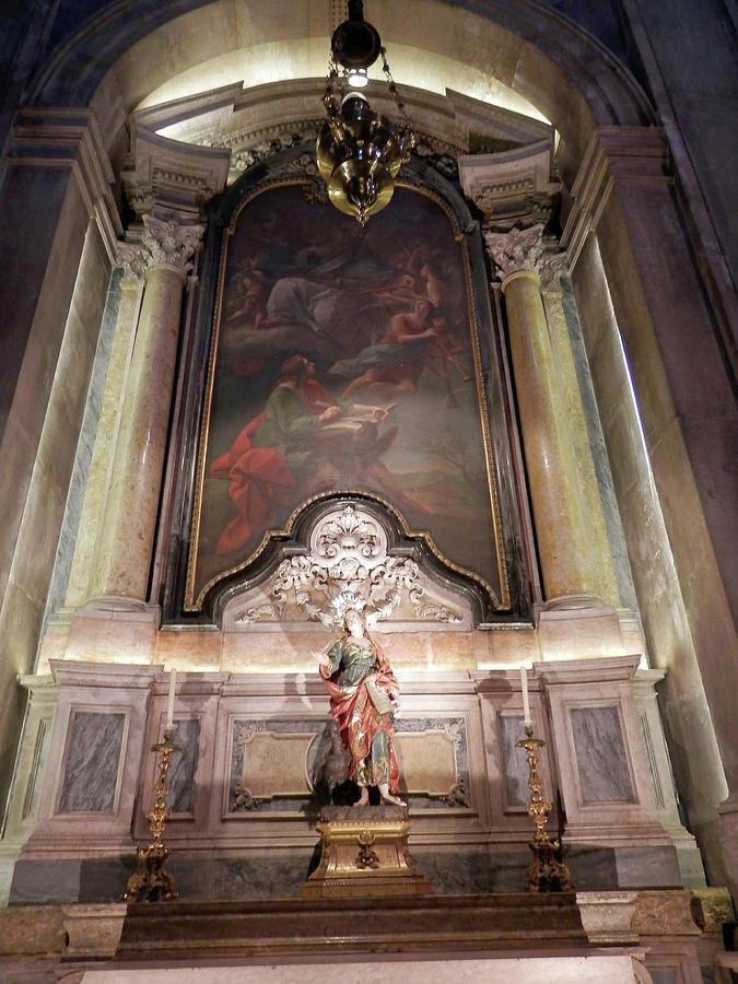Inside Lisbon church by Pema Hou