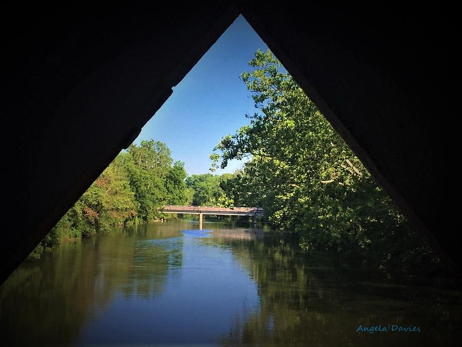 Sachs Covered Bridge Inside Looking Out by Angela Davies