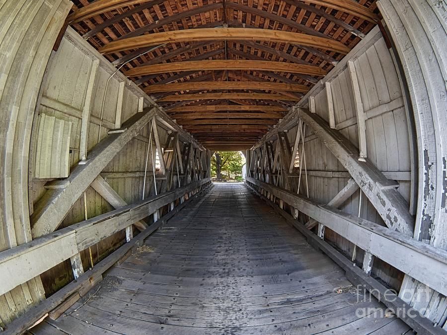 Inside Green Sergeant's Covered Bridge by Mark Miller