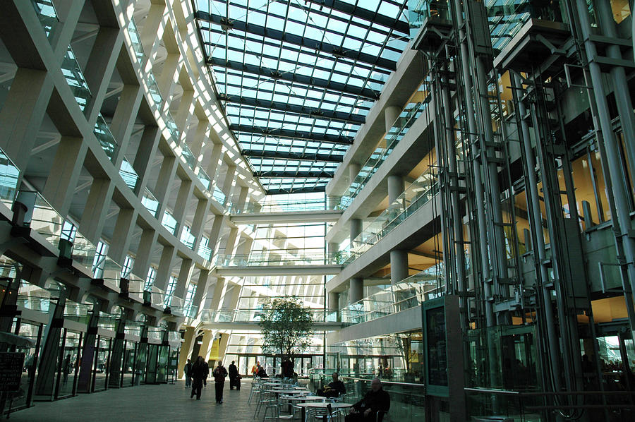 Inside The Building Photograph by Renphoto