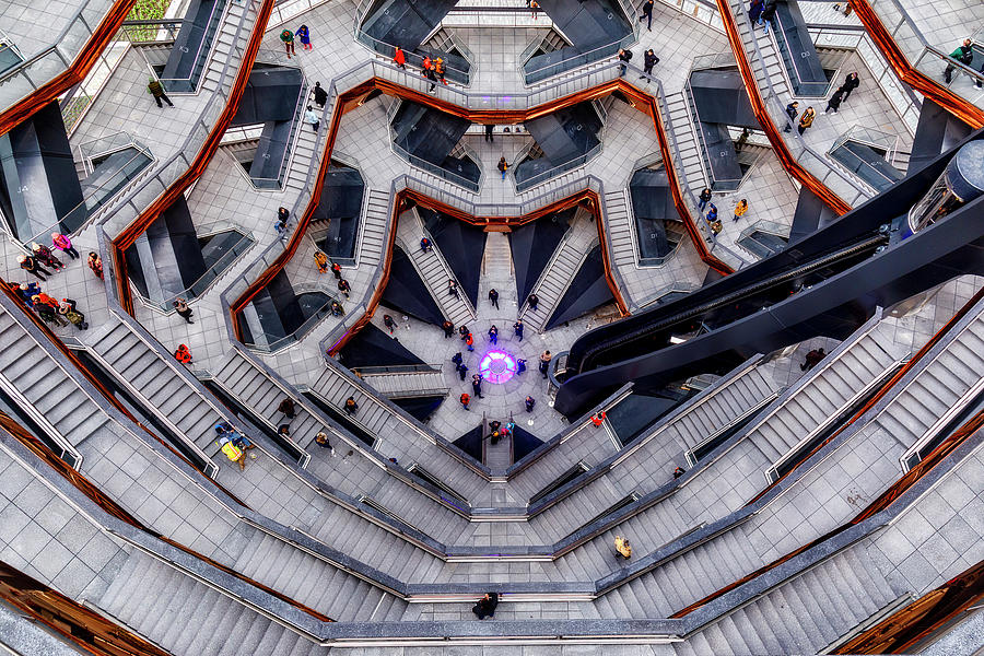 Inside the Hudson Yards Vessel NYC  II by Susan Candelario