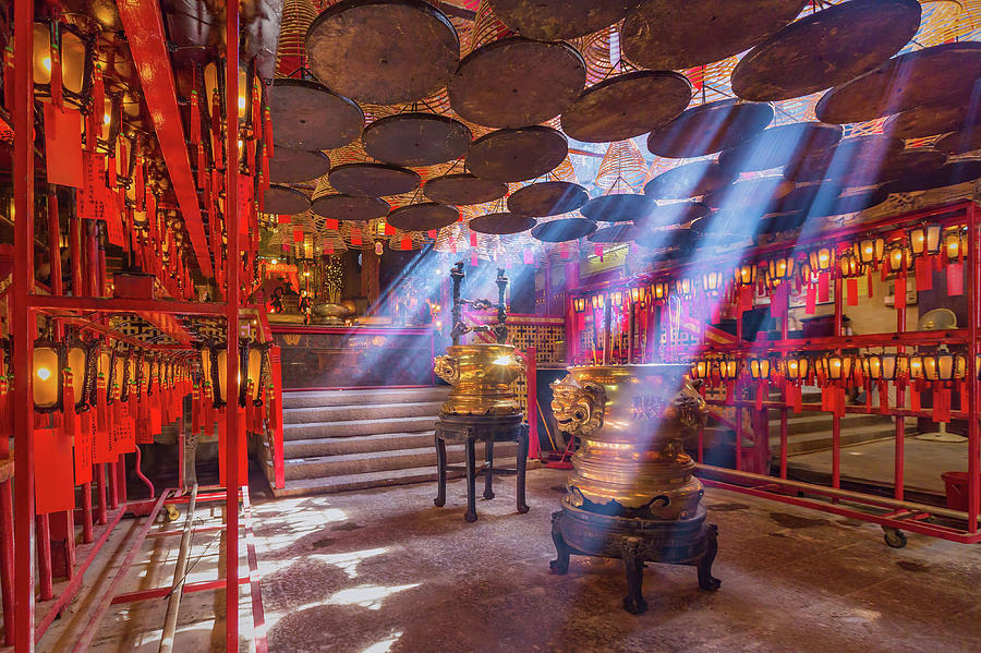 Inside The Man Mo Temple,hong Kong Photograph by Photography By Sanchai Loongroong