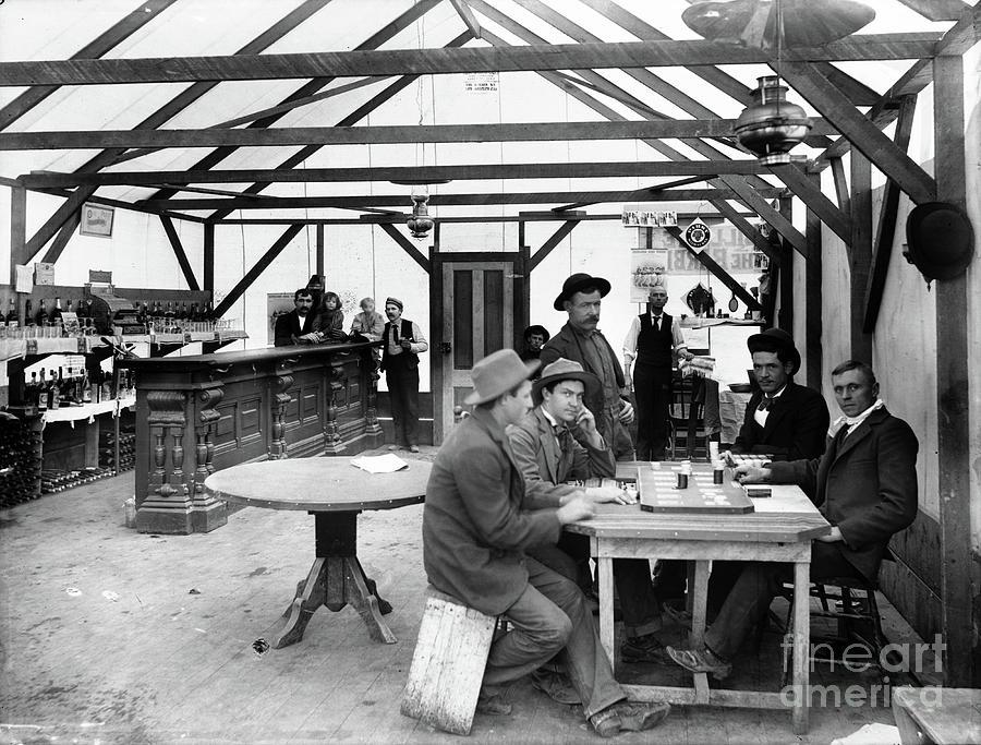 Inside The Yellow Aster Saloon, Randsburg, California - circa. 1900 by Doc Braham