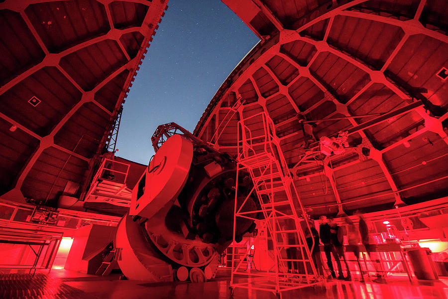 Inside View Of The 60-inch Telescope by Jeff Dai