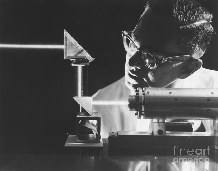 Intense Ruby Laser Beam Photograph by Bettmann
