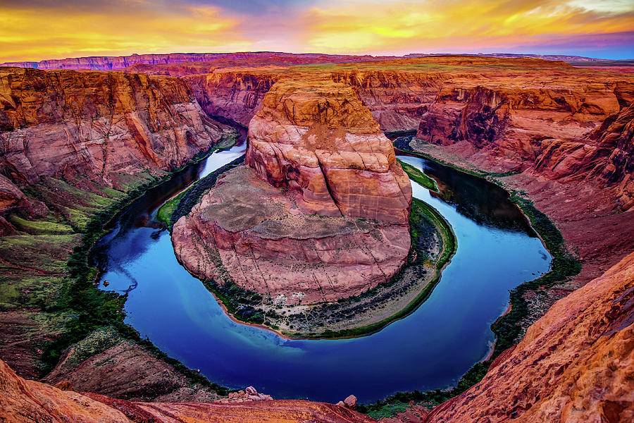 Intense Sunrise at Horseshoe Bend - Page Arizona by Gregory Ballos