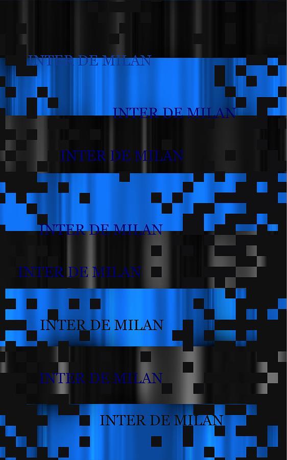 Digital Digital Art - Inter Milan Pixels by Alberto RuiZ
