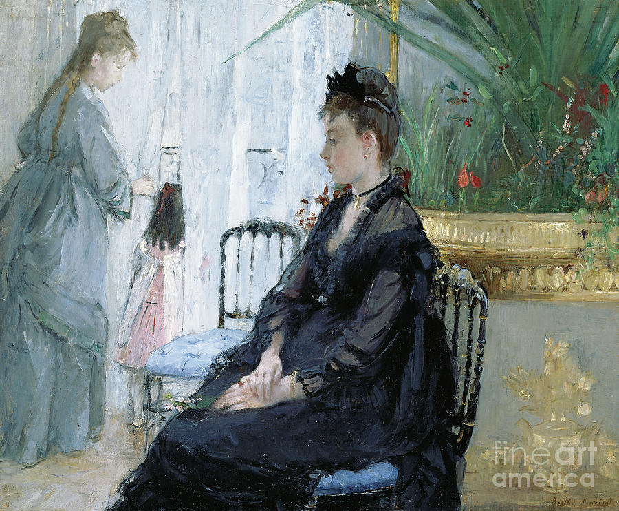 Morisot Painting - Interior, 1872  by Berthe Morisot