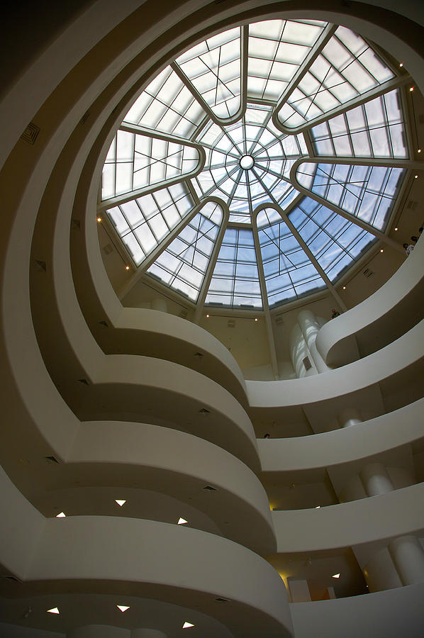 Interior Atrium With Spiral Ramp And Photograph by Barry Winiker