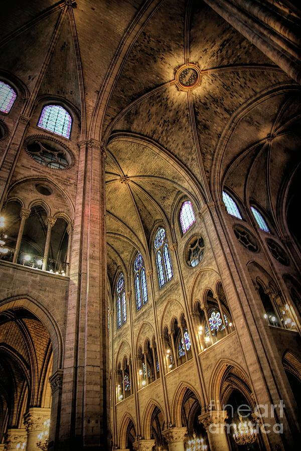 Interior Notre Dame HD Paris  by Chuck Kuhn