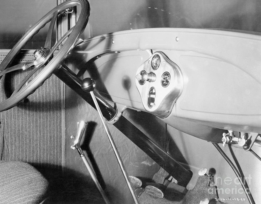 Interior Of 1928 Ford Automobile Photograph by Bettmann