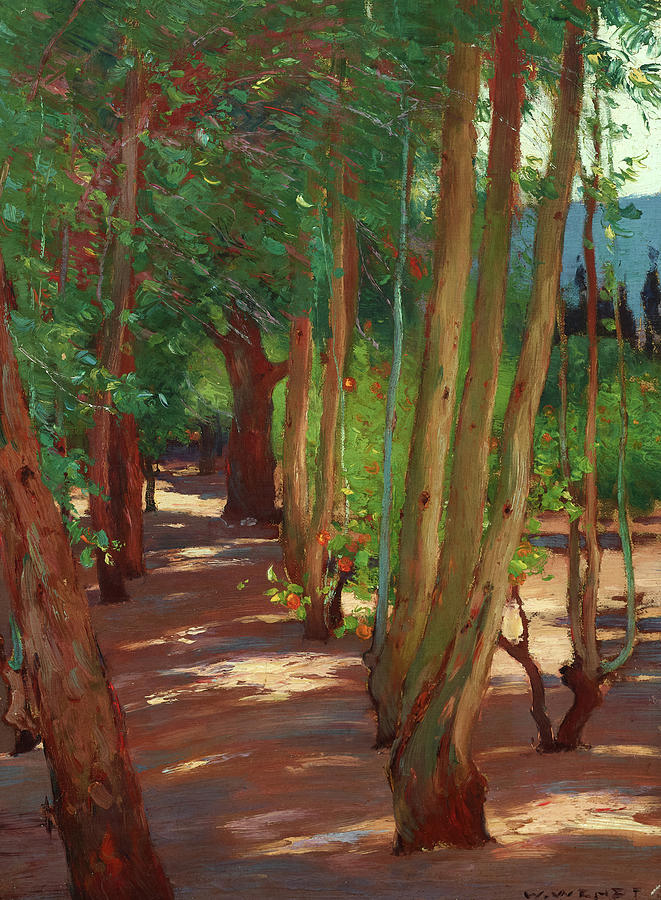 William Wendt Painting - Interior Of An Orchard, St. Ives, Cornwall by William Wendt