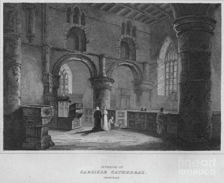Interior Of Carlisle Cathedral Drawing by Print Collector
