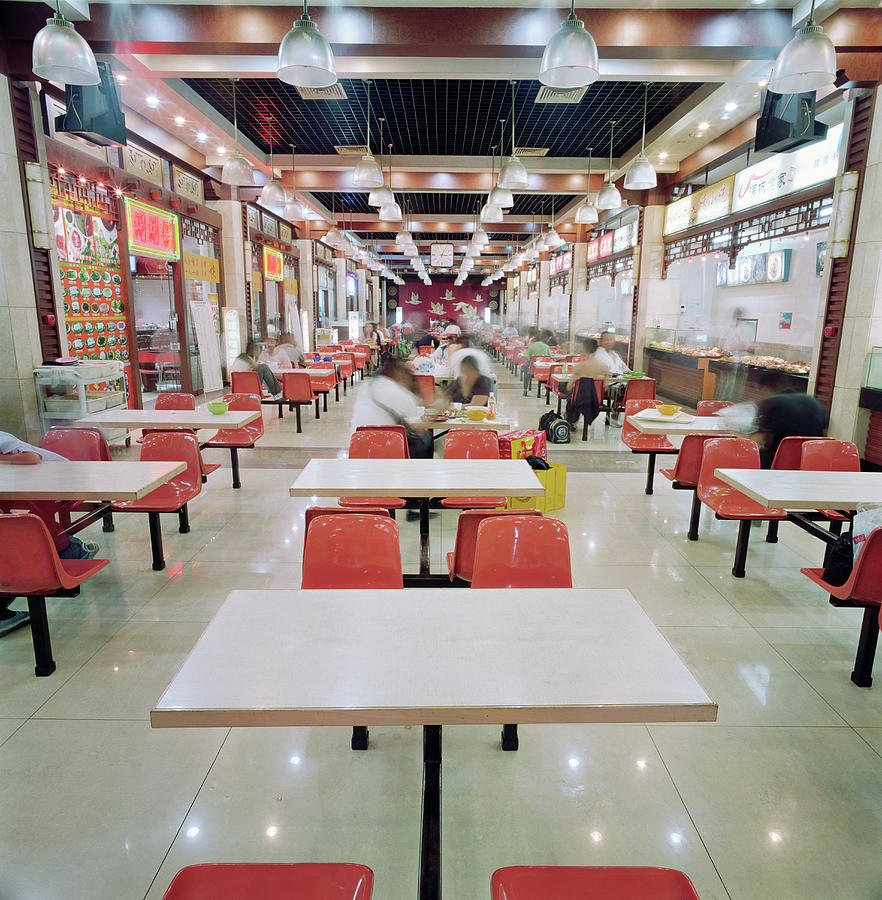 Interior Of Fast Food Restaurant In Photograph by Martin Puddy