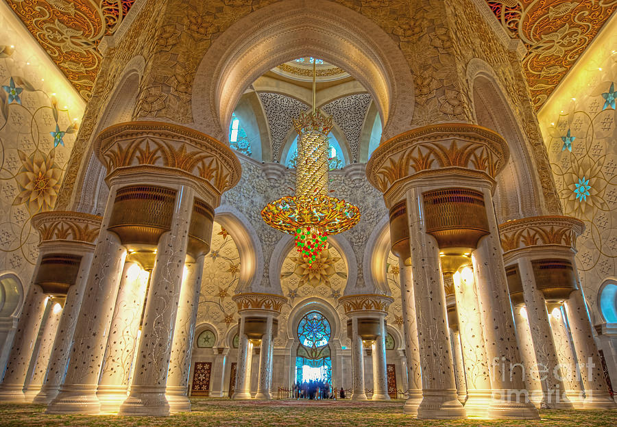 Islamic Photograph - Interior Of Shiekh Zayed Mosque by Naufal Mq
