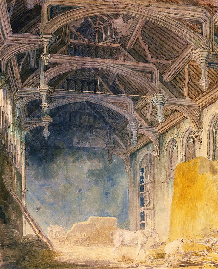 Joseph Mallord William Turner Painting - Interior Of St. Johns Palace, Eltham - Digital Remastered Edition by William Turner