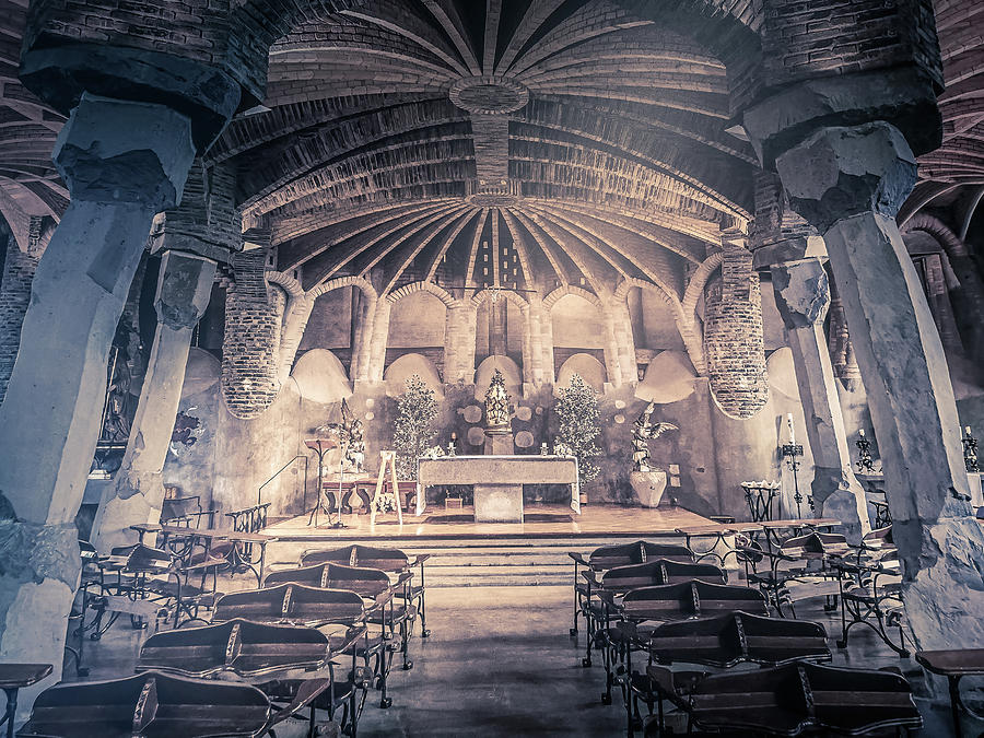 Interior Of The Church Of Colonia Guell by Art Spectrum
