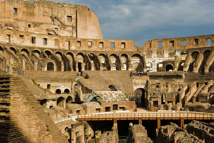 Interior Of The Colosseum, Rome, Italy Photograph by Juan Silva
