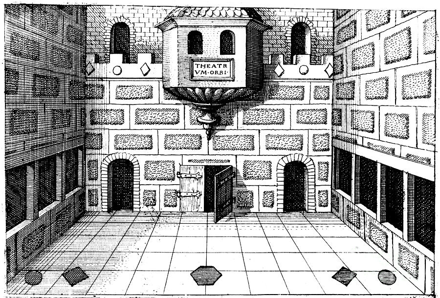 Interior Of The Globe Theatre Drawing by Print Collector