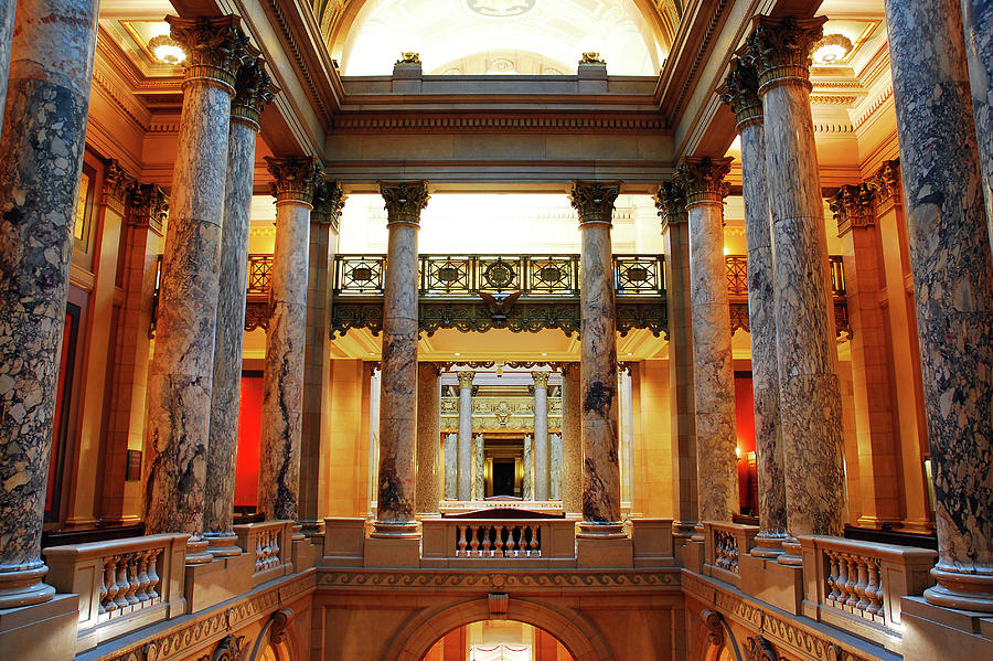 St Paul Photograph - Interior of the Minnesota State Capitol building by James Kirkikis