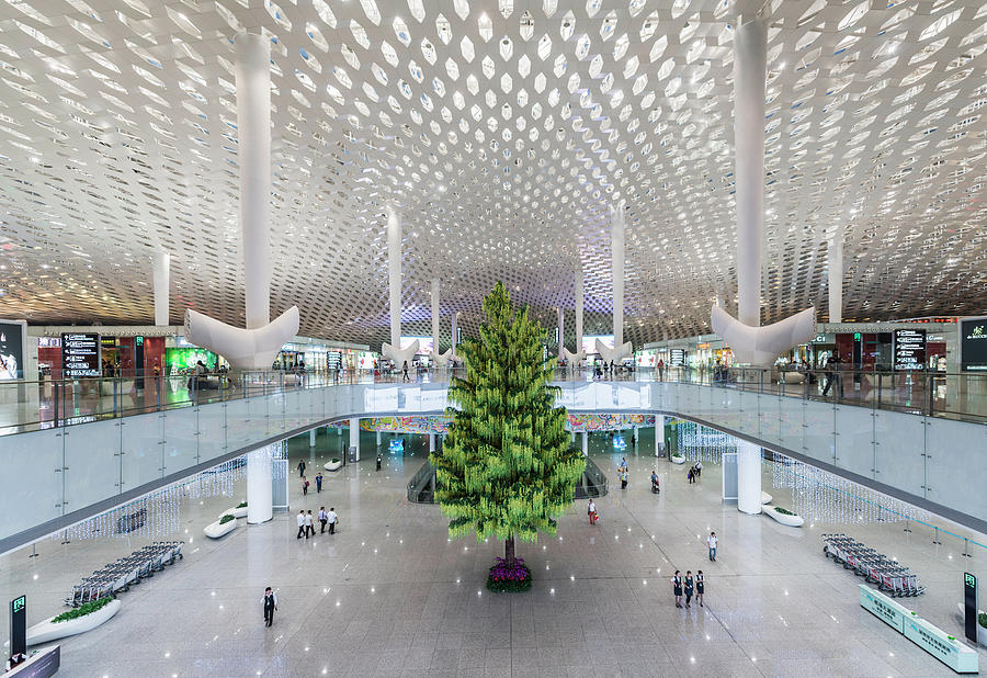 Interior Of The New Shenzen Airport Photograph by Martin Puddy