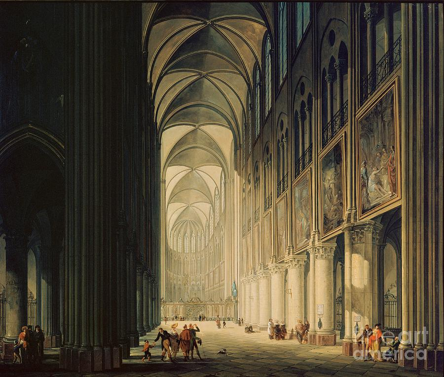 Interior view of Notre-Dame Cathedral by Jean-Francois Depelchin