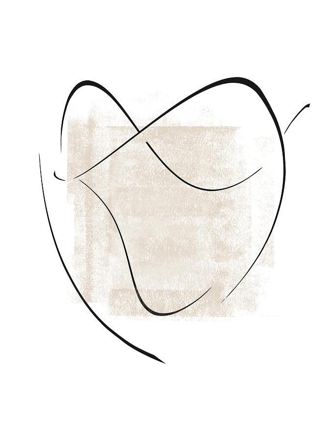 Interlocking Four - Minimalist Line Abstract by Menega Sabidussi