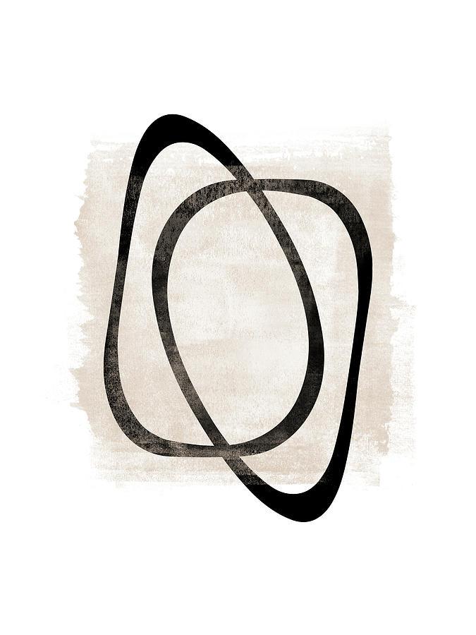 Interlocking Two AA - Minimalist Line Abstract by Menega Sabidussi