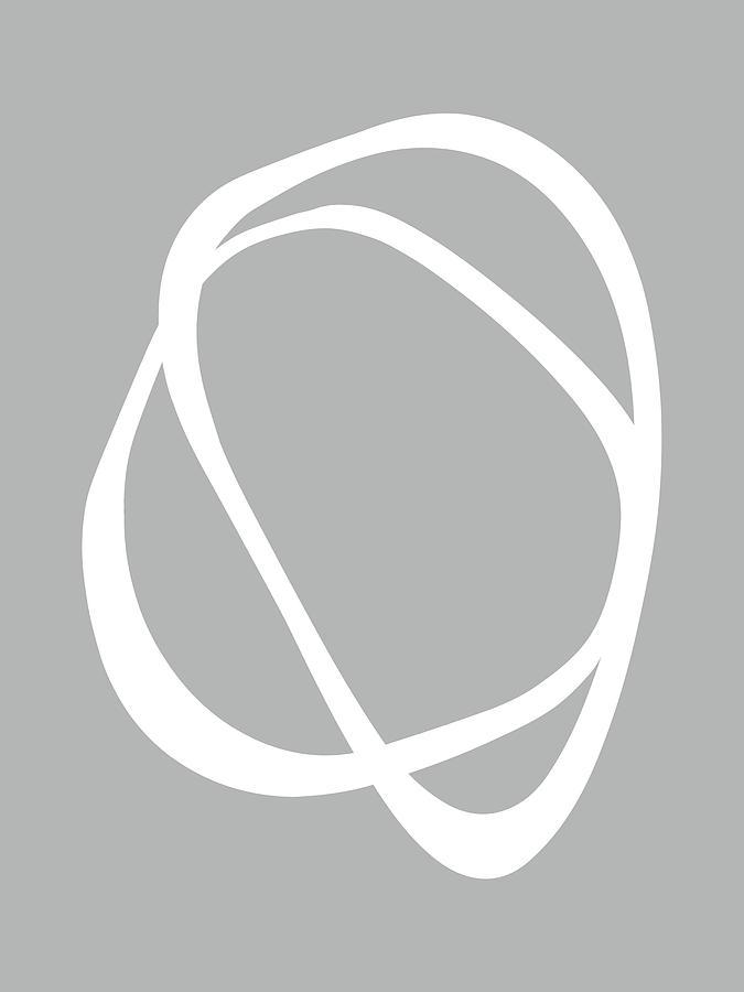 Interlocking Two C - Minimalist Line Abstract by Menega Sabidussi
