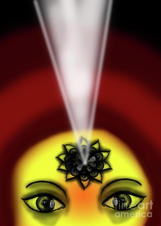 Internal Eye Vision Light Digital Art