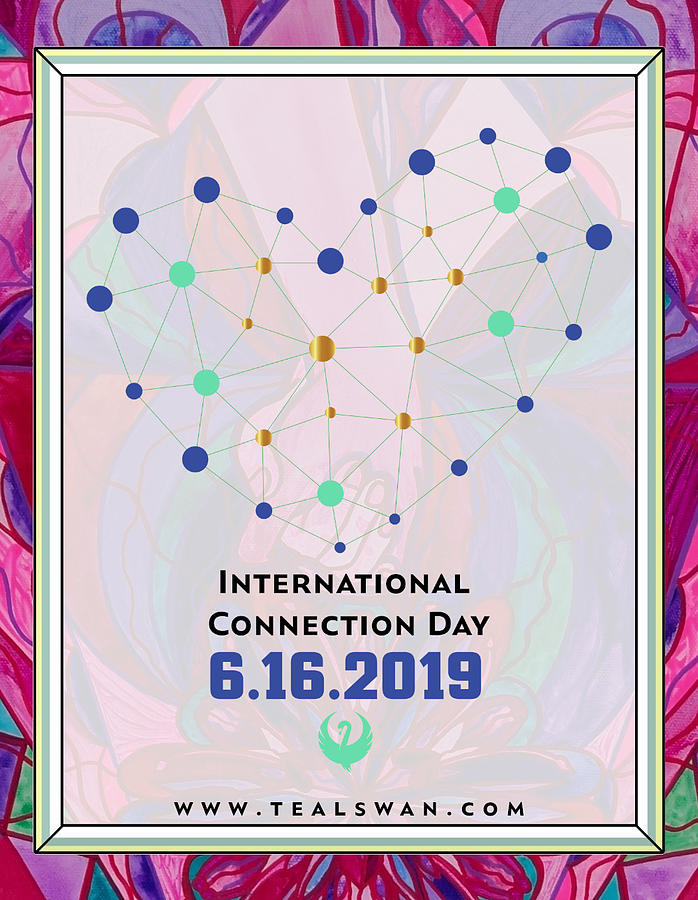 International Connection Day 2019 Intimacy Border by Teal Eye Print Store