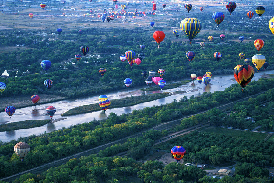 International Hot Air Balloon Fiesta Photograph by Mark Newman