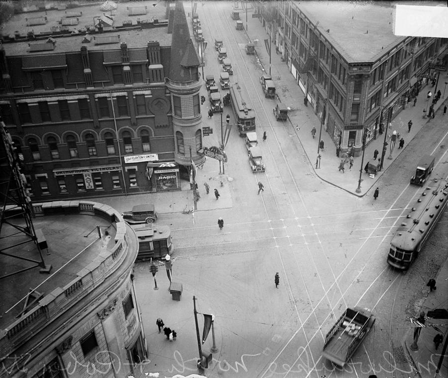 Intersection Of Milwaukee And Robey Now Photograph by Chicago History Museum