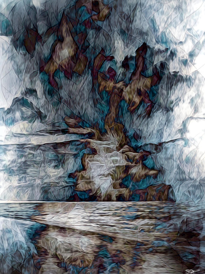 Storm Mixed Media - Into the Storm by Abstract Angel Artist Stephen K