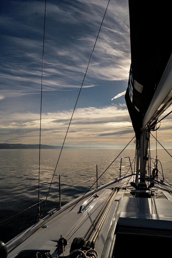 Sailing Photograph - Into The Sun by Tim Dussault