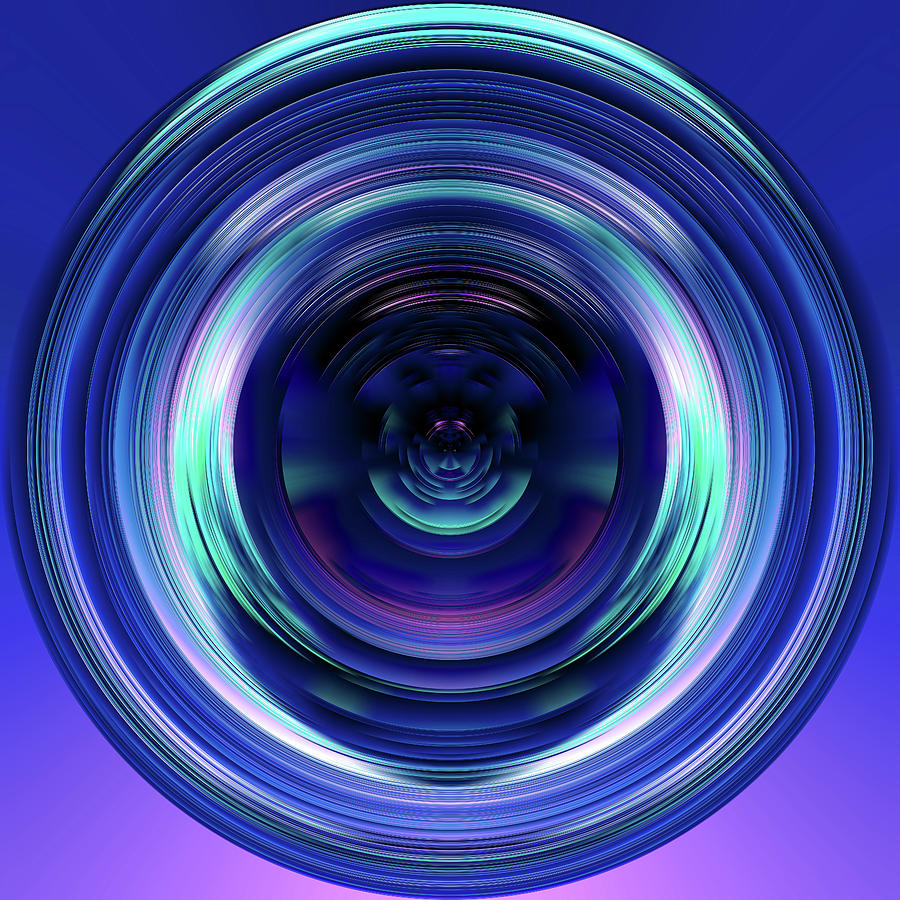 Sphere Digital Art - Introspection by Jennifer Walsh