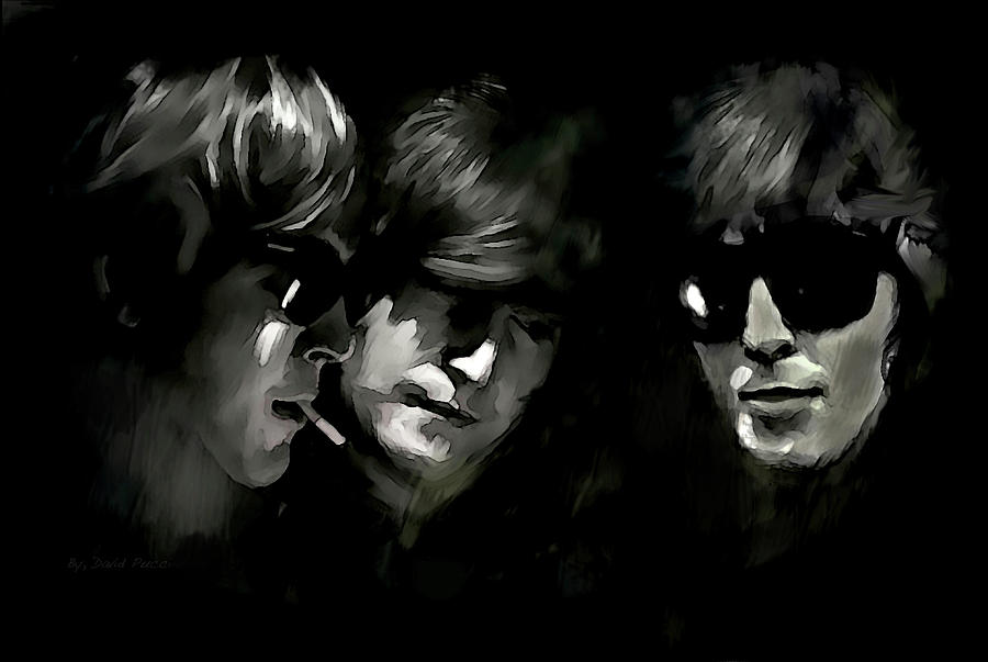 Intuitive Energy George Harrison John Lennon Paul McCartney by David Pucciarelli Iconic Images Art Gallery