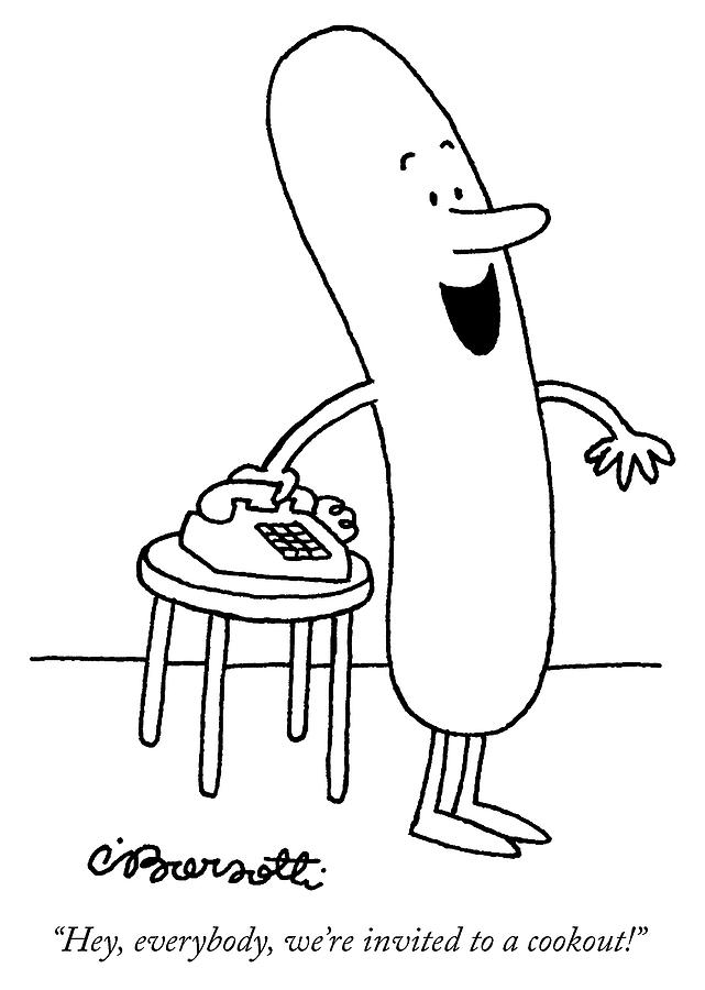 Invited To A Cookout Drawing by Charles Barsotti