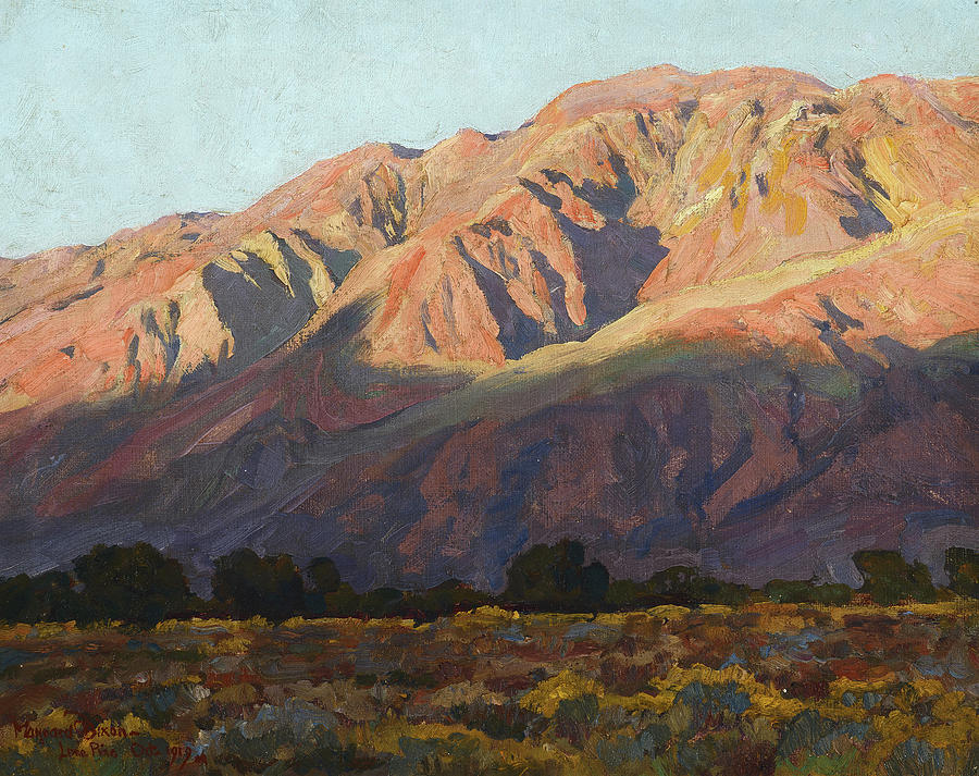 Maynard Dixon Painting - Inyo Range At Sunset, Lone Pine, 1919 by Maynard Dixon