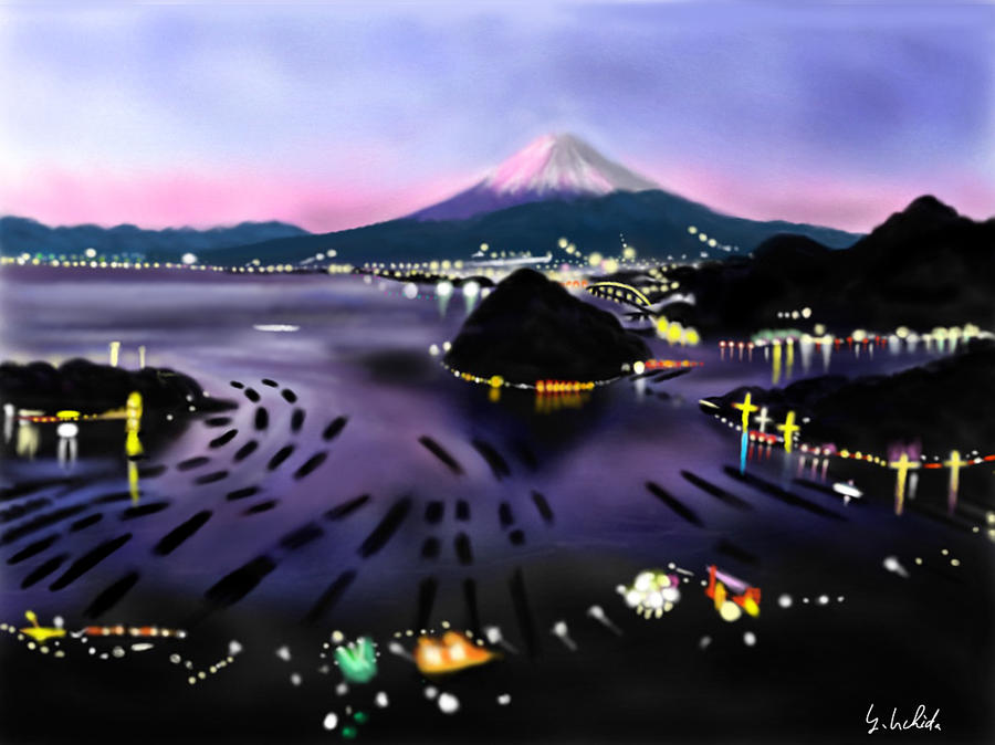Ipad Painting - iPad sketch 1.28.19 Mt Fuji by Yoshiyuki Uchida