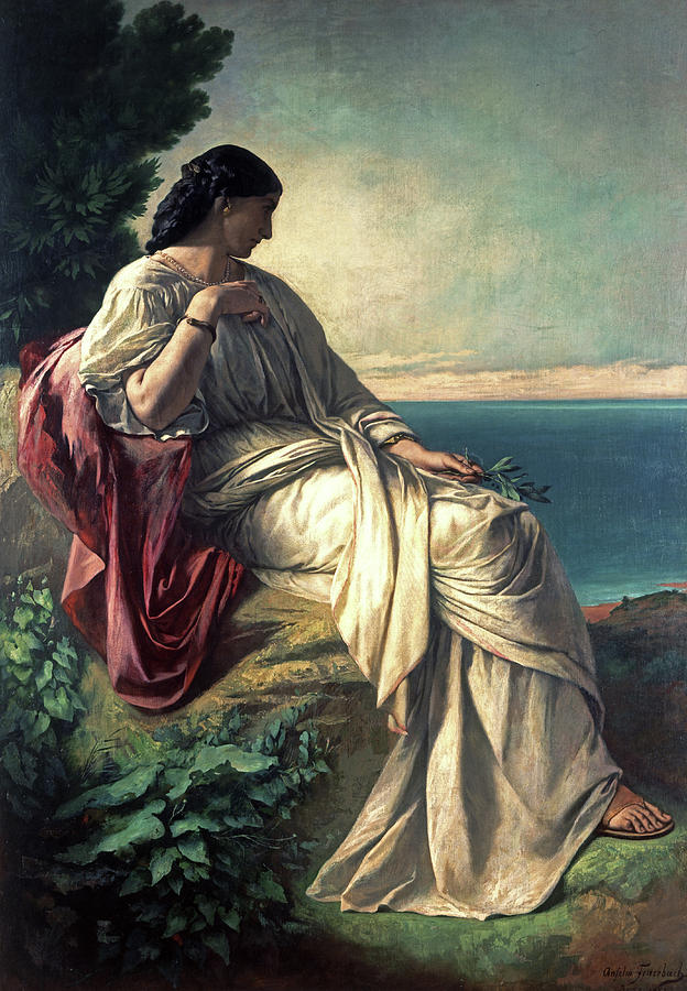 Anselm Painting - Iphigenia by Anselm Feuerbachs