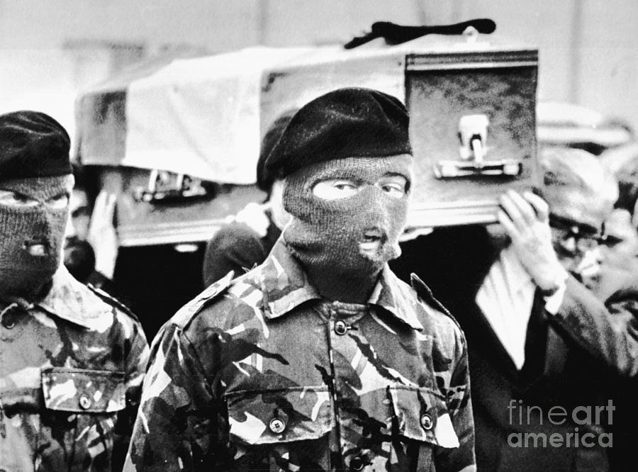 Ira Honor Guard At Bobby Sands Funeral Photograph by Bettmann