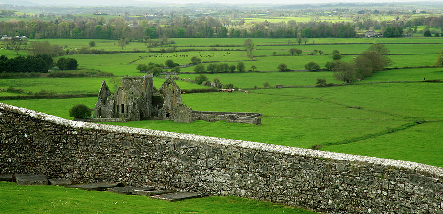 Ireland Country Scape With Castle Ruins Photograph by Njgphoto