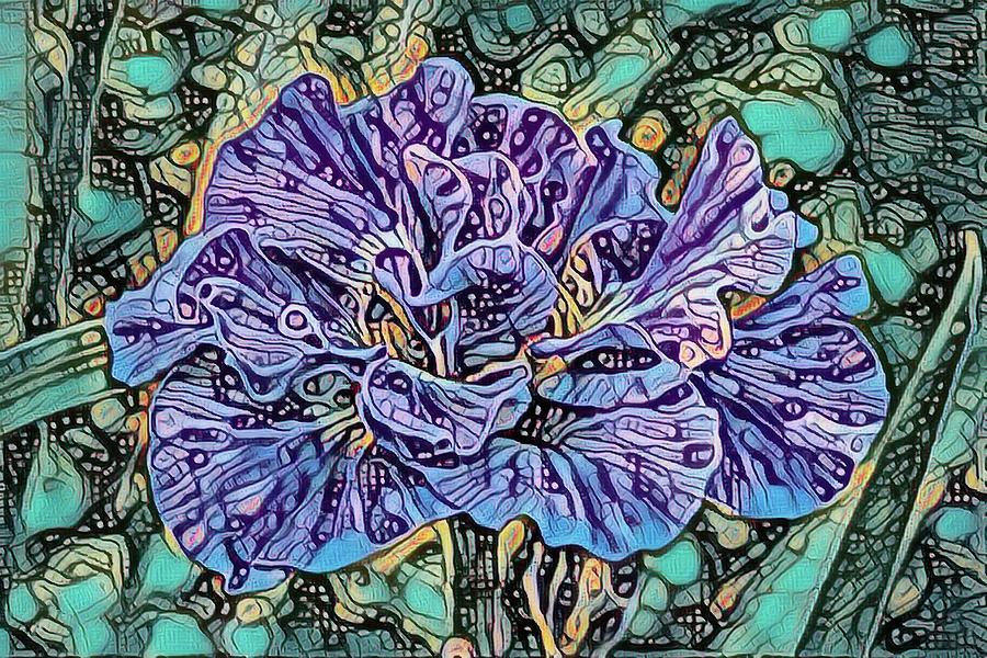 Iris Abstract by Teresa Wilson